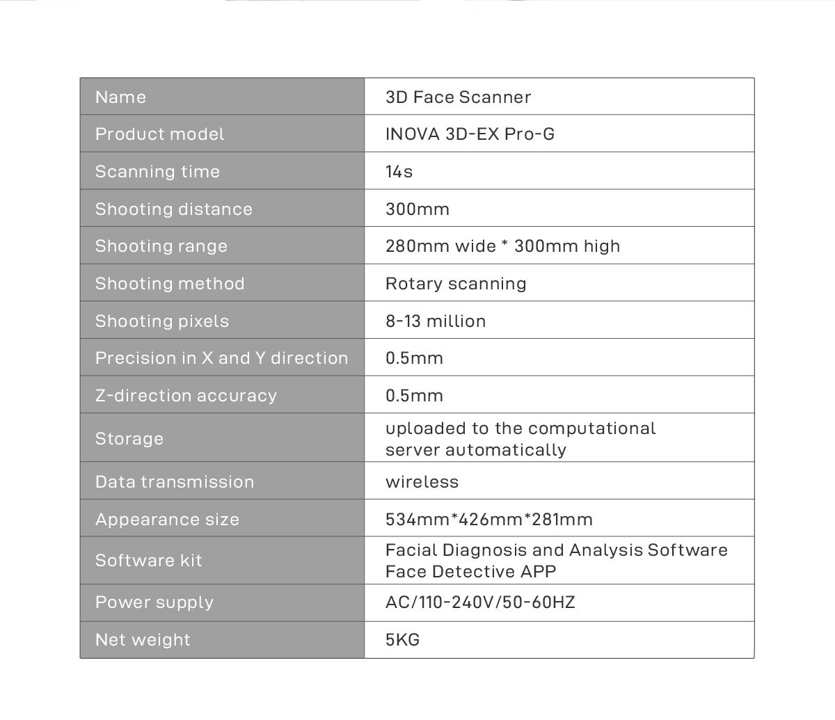 INOVA 3D-EX Pro-G